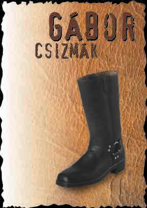 Gábor csizmák (western motorider ankle) boots shoes full leather